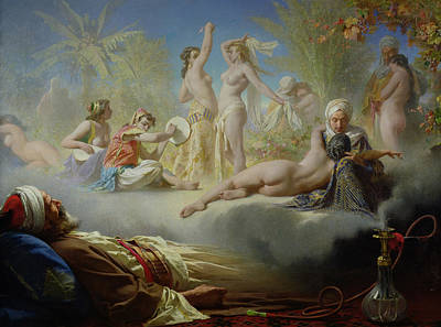 Muslims Painting - The Dream Of The Believer by Achille Zo