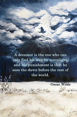 Oscar Wilde Digital Art - The Dreamer by Mary Palmer