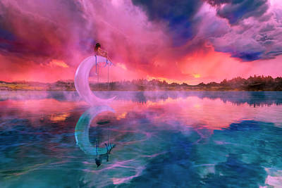 Fantasy Digital Art - The Dreamery II by Betsy Knapp