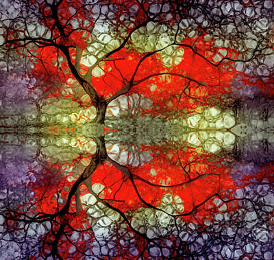 Digital Art - The Dreams Of Trees Reflected by Tara Turner