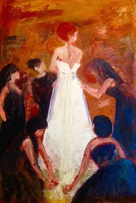 Bridal Shower Painting - The Dress by Yolanda Terrell