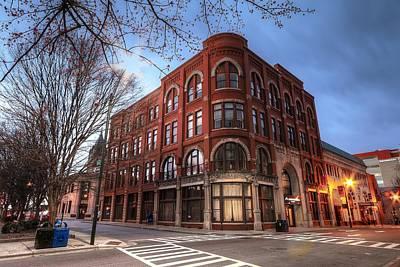 Photograph - The Drhumor Building Street Scene Asheville Nc by Carol Montoya