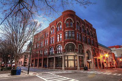Photograph - The Drhumor Building Street Scene Asheville Nc Painting by Carol Montoya