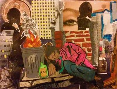 Mixed Media - The Drifter by Dele Akerejah