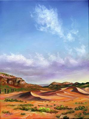 Sand Dunes Painting - The Drifters by Eve  Wheeler
