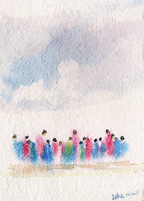 Painting - The Drifting People by Asha Sudhaker Shenoy