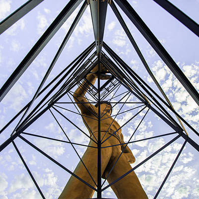 Photograph - The Driller - Tulsa Oklahoma - Square Art by Gregory Ballos