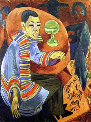 Bridge Painting - The Drinker, Self-portrait by Ernst Ludwig Kirchner