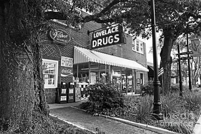 The Drug Store Art Print by Scott Pellegrin