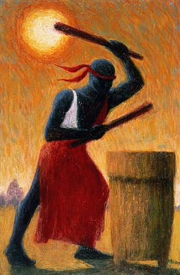 African-americans Painting - The Drummer by Tilly Willis