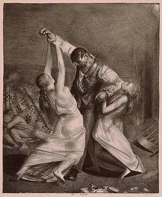 Realism Photograph - The Drunk, A Lithograph By George by Everett
