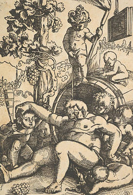 Relief - The Drunk Bacchus by Hans Baldung Grien