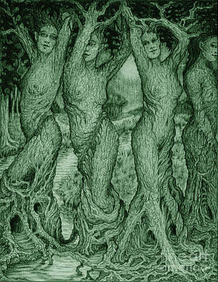 The Dryads Art Print by Debra A Hitchcock