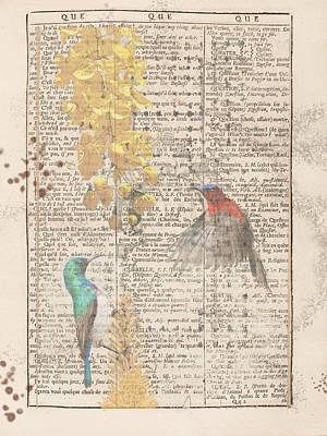 Digital Art - The Dual Of Sunbirds by Keshava Shukla