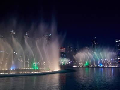Photograph - The Dubai Fountain At Burj Khalifa by Jouko Lehto