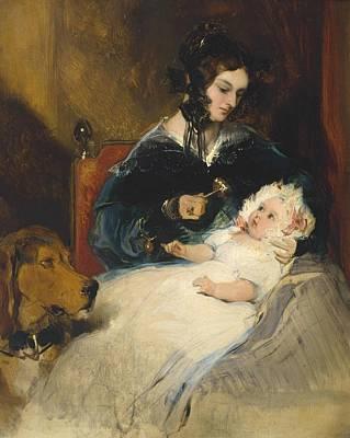 Abercorn Painting - The Duchess Of Abercorn And Child by Edwin Henry