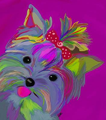 Dog Jewelry Painting - Yorkie Dorkie by Patti Siehien