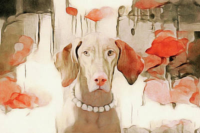 Watercolor Pet Portraits Mixed Media - The Duchess by Susan Maxwell Schmidt