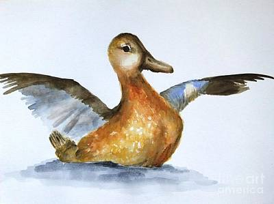 Painting - The Duck. by Annemeet Hasidi- van der Leij