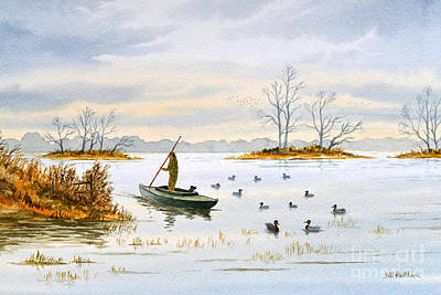 Painting - The Duck Blind Isalnd by Bill Holkham