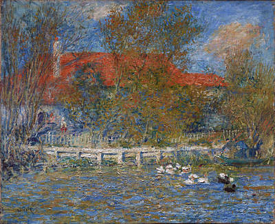Painting - The Duck Pond by Pierre-Auguste Renoir