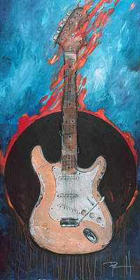 Music Paintings - The Duck by Sean Parnell