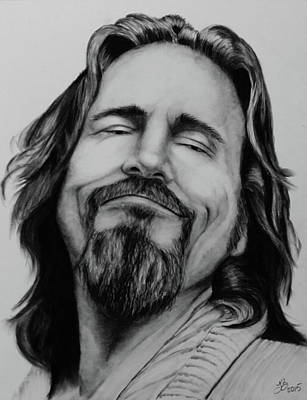 Lebowski Drawing - The Dude Abides by Tim Brandt
