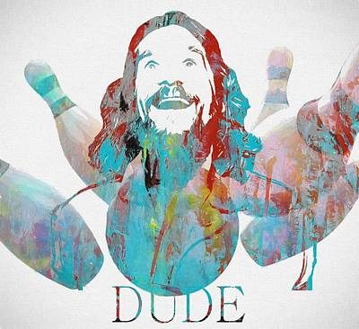 The Dude Bowling Art Print