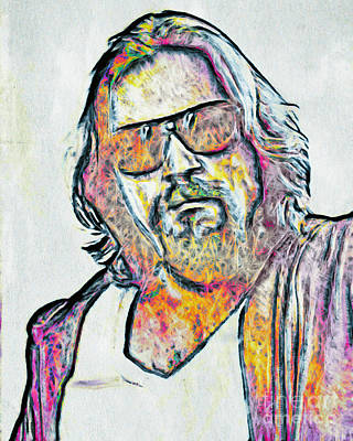 The Dude Artwork Painting - The Dude by GabeZ Art