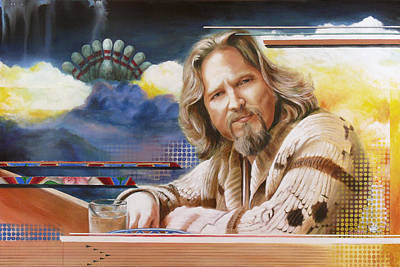 Lebowski Painting - The Dude by Ken Hancock