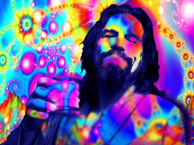 Painting - The Dude The Big Lebowski Jeff Bridges by Tony Rubino