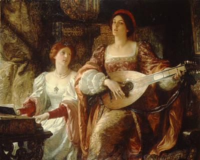 The Duet Art Print by Sir Frank Dicksee