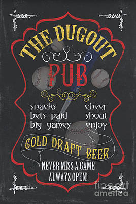Pitcher Painting - The Dugout Pub by Debbie DeWitt