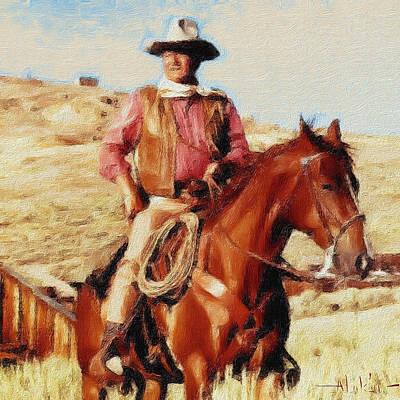 Digital Art - The Duke by Alan Lakin