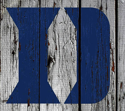 Mixed Media - The Duke Blue Devils 02w by Brian Reaves
