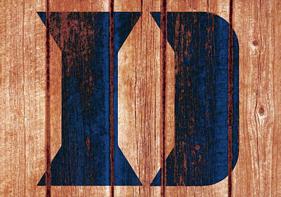 Mixed Media - The Duke Blue Devils 03w by Brian Reaves