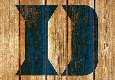 Mixed Media - The Duke Blue Devils 04w by Brian Reaves