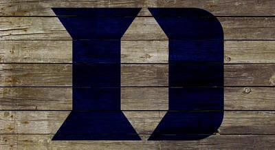 Brian Dawkins Mixed Media - The Duke Blue Devils 2w by Brian Reaves