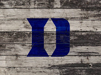 The Duke Blue Devils 3b  Art Print by Brian Reaves