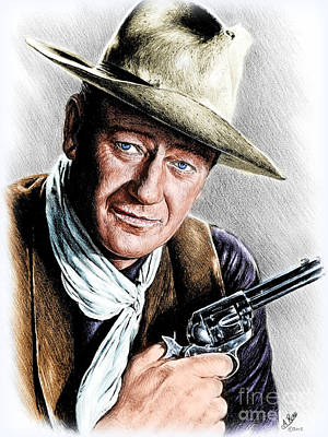 Drawing - The Duke Colour Edit 2 by Andrew Read