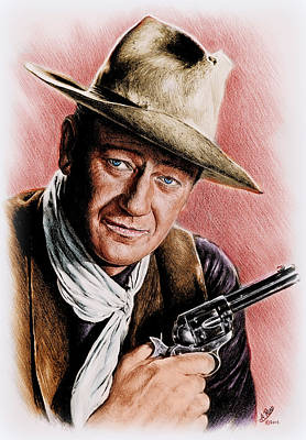 All Cowboy Painting - The Duke Colour Edit by Andrew Read