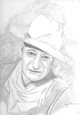 John Wayne Drawings Drawing - The Duke by Dale Ballenger