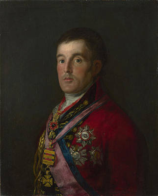 The Duke Of Wellington Art Print by Francisco de Goya