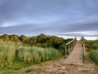 Mixed Media - The Dune Bridge by Abbie Shores
