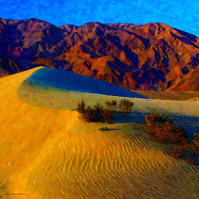Digital Art - The Dunes At Dusk by Chuck Mountain