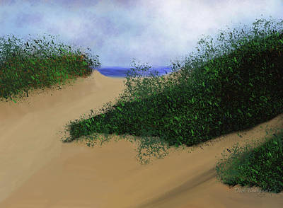 Painting - The Dunes by Dick Bourgault