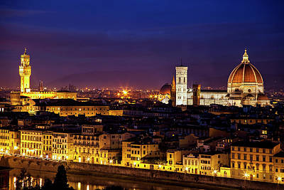 The Duomo At Twilight Art Print by Andrew Soundarajan