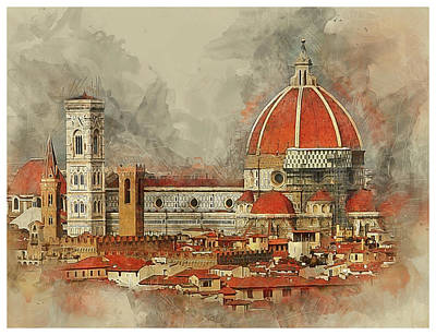 Photograph - The Duomo Florence by Brian Tarr
