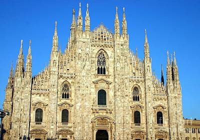 Catherdral Photograph - The Duomo Milan's Cathedral by Giancarlo Liguori