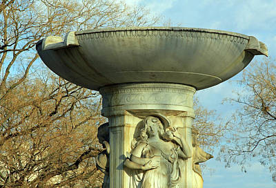 Photograph - The Dupont Circle Fountain -- The Sea Without Water by Cora Wandel